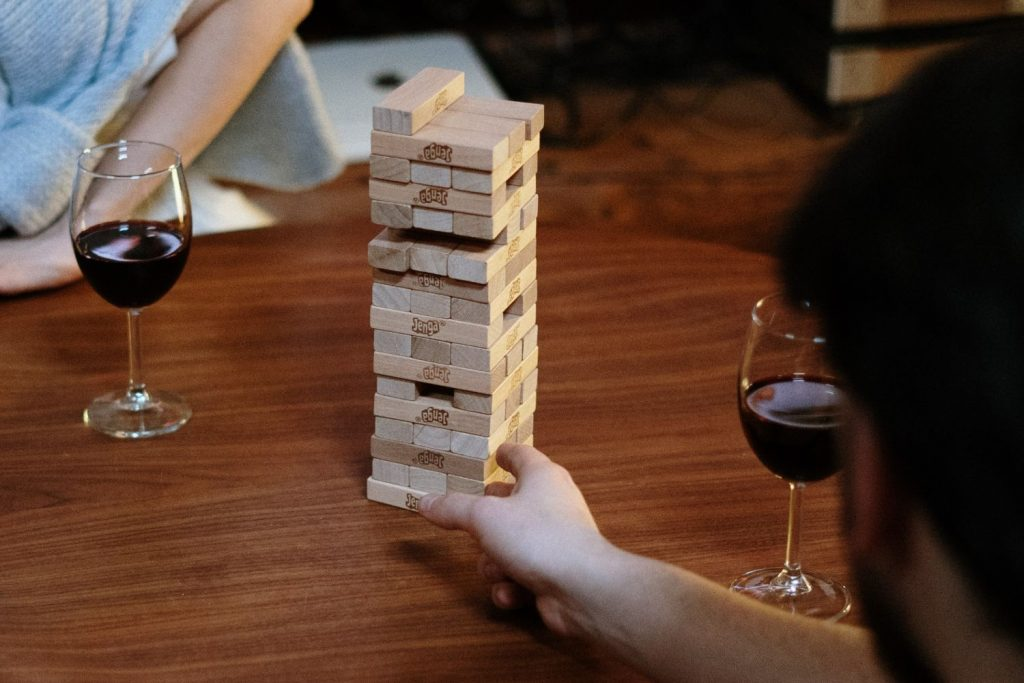 Best Drinking Games; Pulling the Blocks With Drunk Jenga