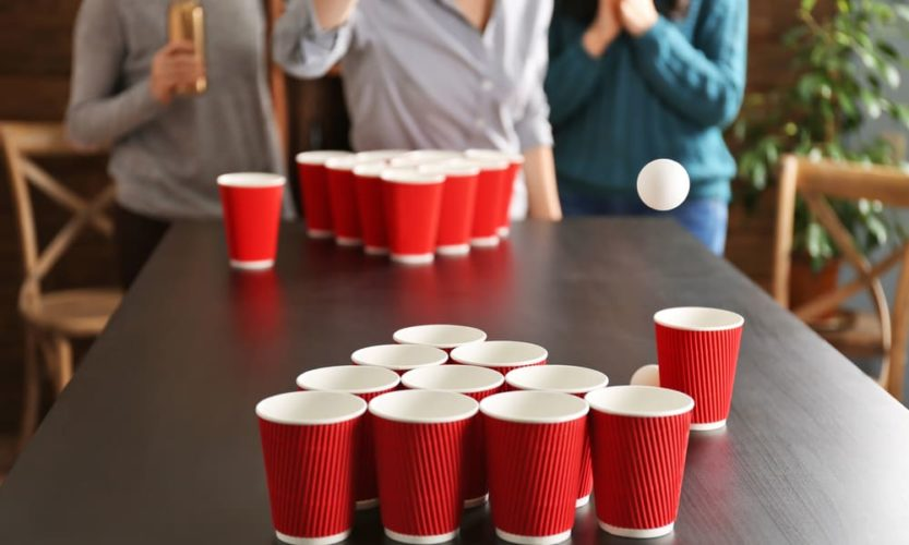Best Drinking Games; Try Your Luck With Beer Pong