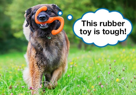 Soft Chew Toys For Dogs; Ultra-Durable Rubber Chew Toy