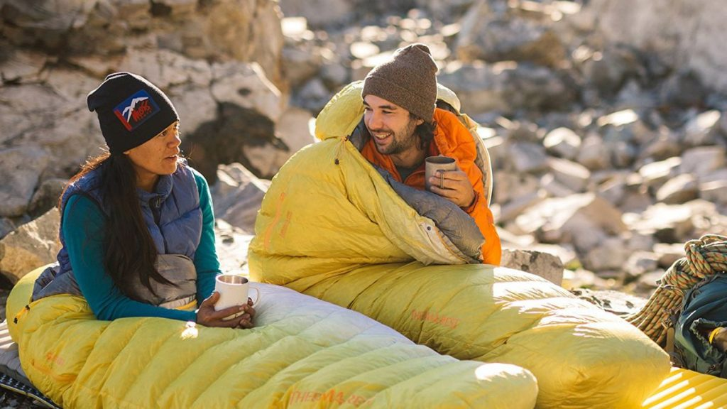 Best Gifts for Outdoorsy Women; Wearable Sleeping Bag
