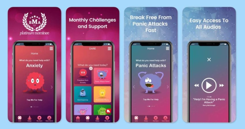 Apps To Deal With Anxiety; Dare