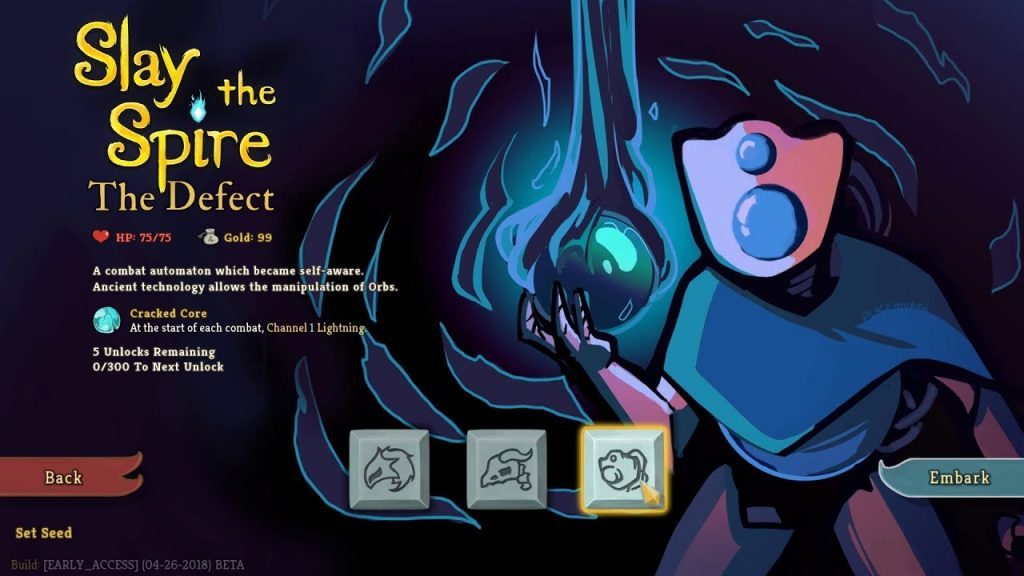 Slay The Spire Roguelike's 4 Characters; Defect