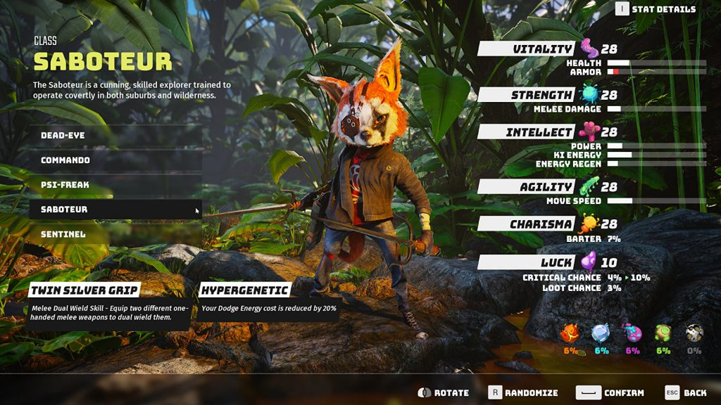 Biomutant: Tips and Tricks: Don't worry about building the perfect character