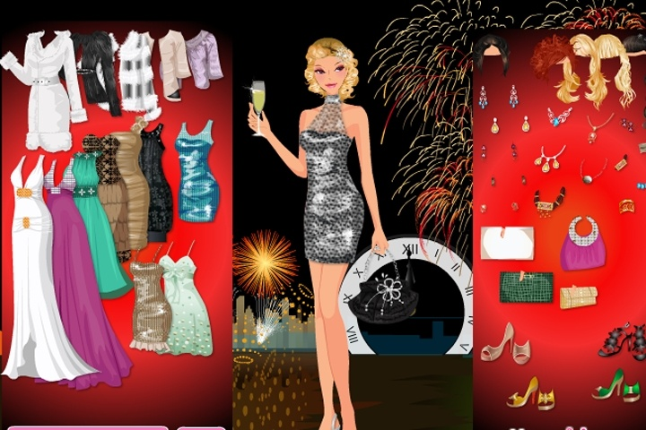 Dress-up Games For Girls; Festive New Year's Party