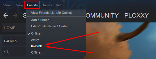 How To Appear Offline On Steam - Invisible option
