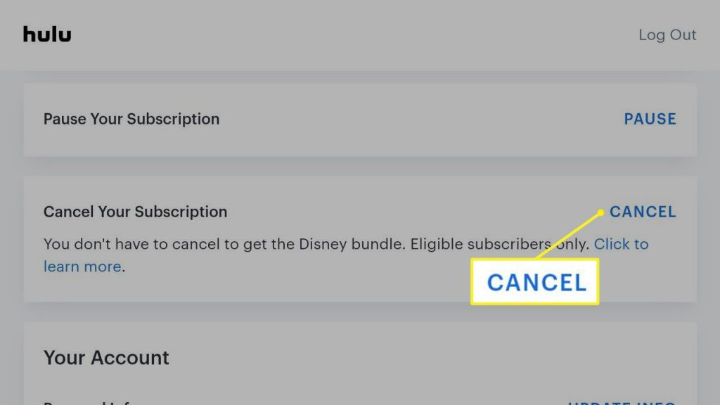 Cancel Your Hulu Subscription; How To Cancel Your Hulu Subscription Using Mobile Phone or PC