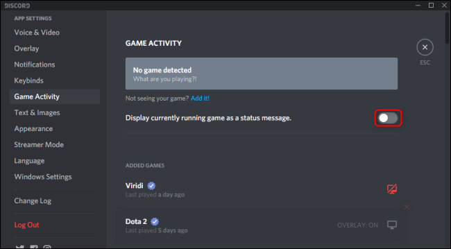 How To Change Discord Playing Status On PC