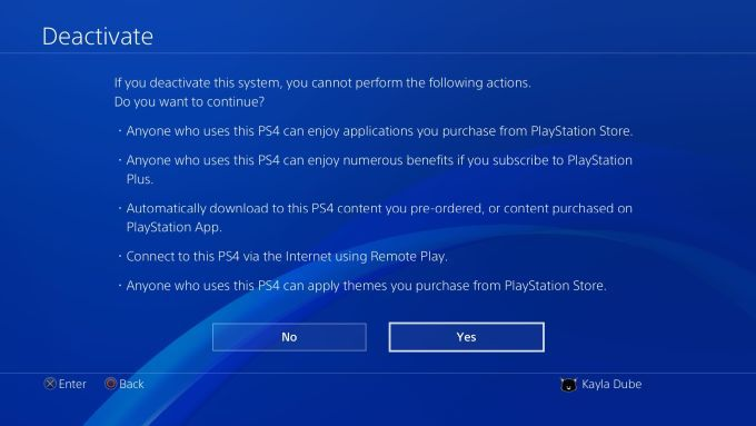 How to Factory Data Reset PS 4 - Deactivate PSN Account