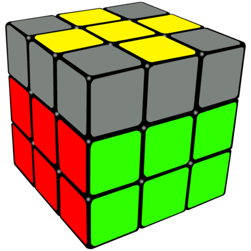 Solve a 3x3 Rubik's Cube; Making a Yellow Cross on the Top