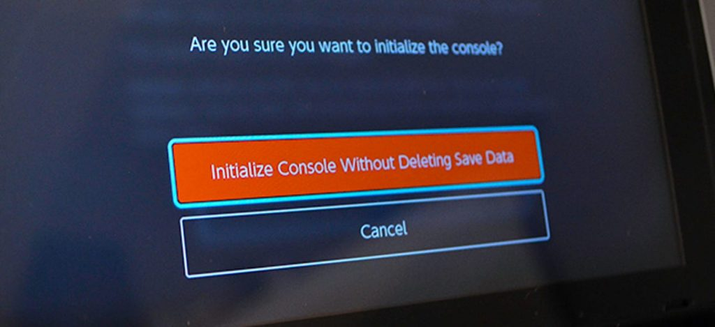 How To Factory Reset Nintendo Switch; Restoring Factory settings without deleting save data