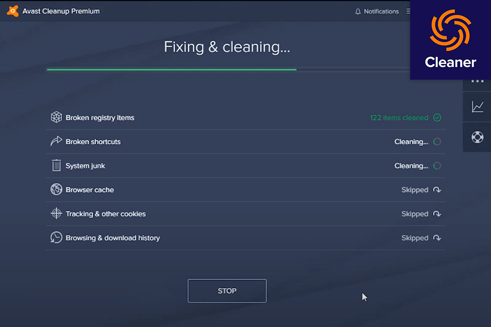 Avast Cleanup Review; Shortcut Cleaner
