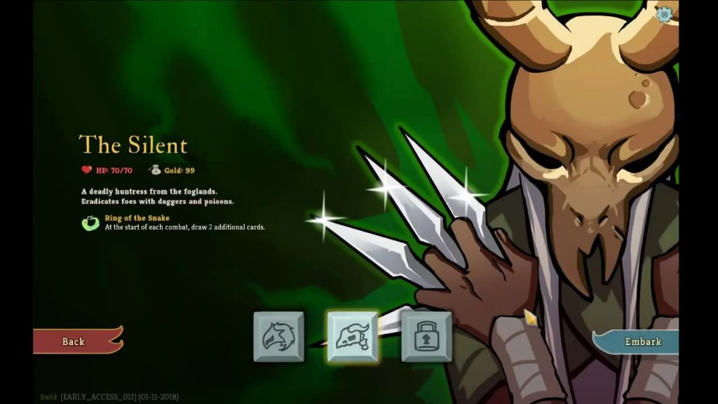 Slay The Spire Roguelike's 4 Characters; Silent