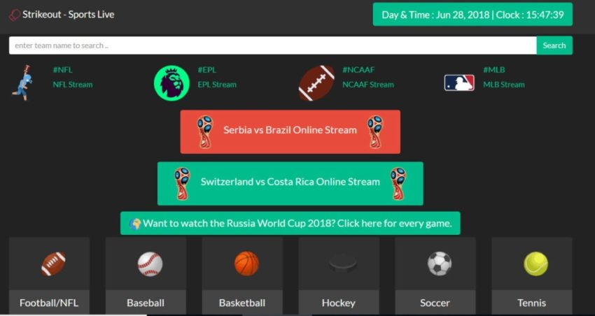 FirstRowSports Alternatives; Strike Out