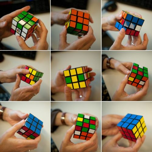 Try solving it like a 3x3 cube