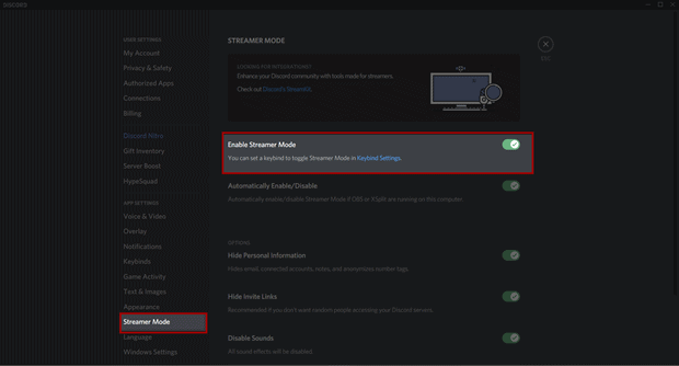 How to Enable Discord Streamer Mode