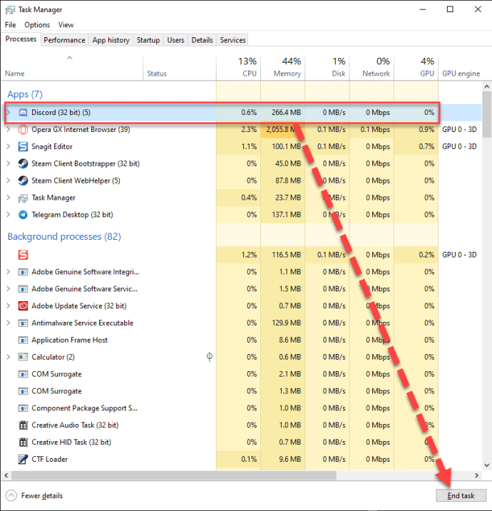 How To Restart Discord - Task Manager