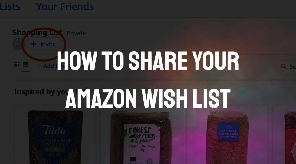 Share and Collaborate On Amazon Wish Lists; How To Share An Amazon Wish List