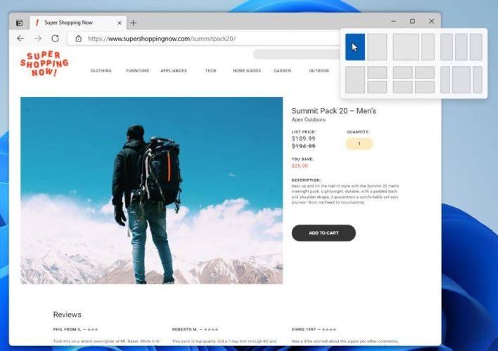 How Windows 11 Will Change Your PC - Snap Layout