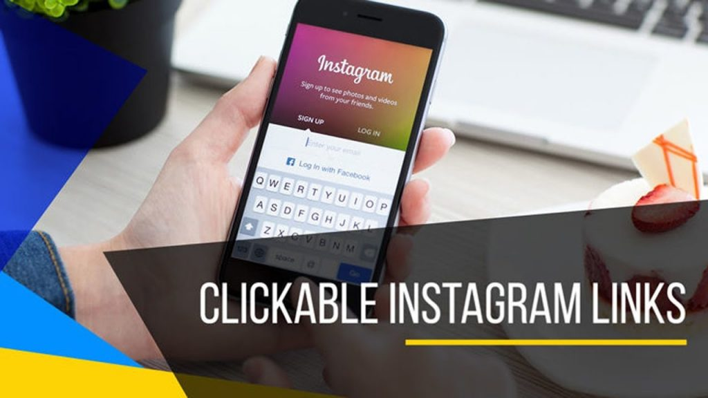 How to add clickable link to instagram