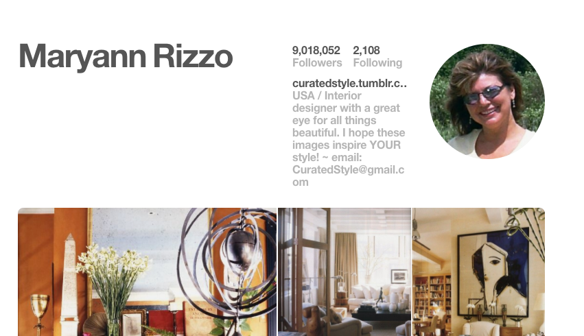 Most Followed Users On Pinterest: Maryann Rizzo