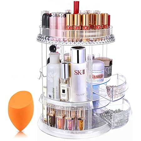Best Organizing Products ; Rotating Makeup Organizer