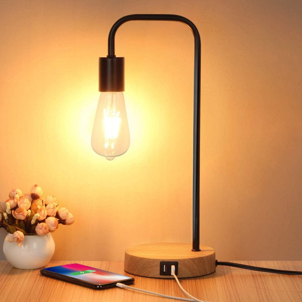 Products For Your Bedroom On Amazon; Table Lamp With USB Charging