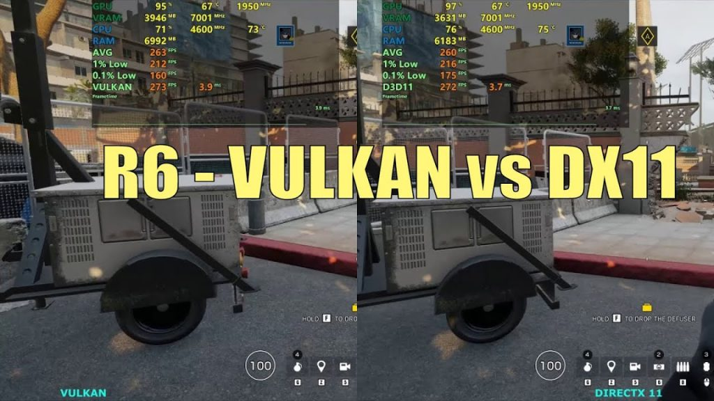 What is Vulkan runtime libraries; What's the difference between r6 and r6 Vulkan?