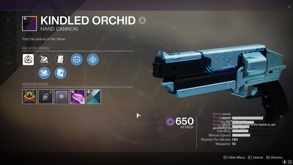 Best Black Armory Weapons - Kindled Orchid