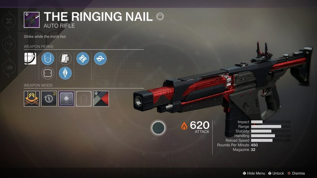 Best Black Armory Weapons - Ringing Nail