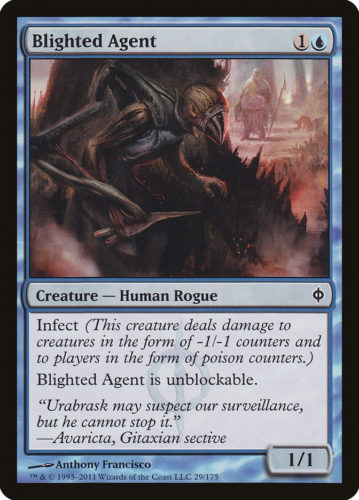 Infect Cards MTG; Blighted Agent