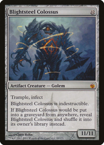Infect Cards MTG; Blightsteel Colossus