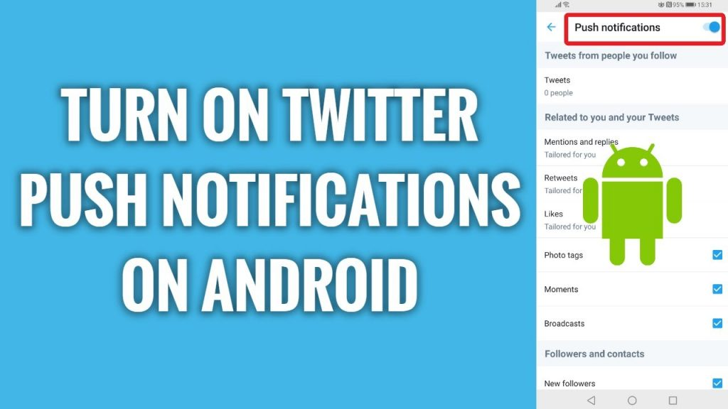 Enable Push Notifications on Twitter