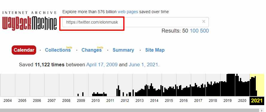 Find your Deleted Tweets Using Wayback Machine