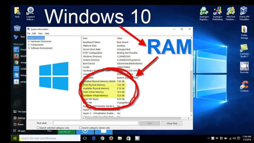 How To Allocate More RAM To Minecraft Twitch - Checking Ram In Windows 10