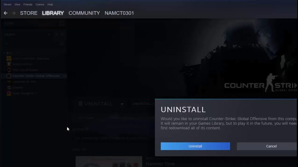 How To Fix Steam Says 'Game is Running' - Reinstall the game