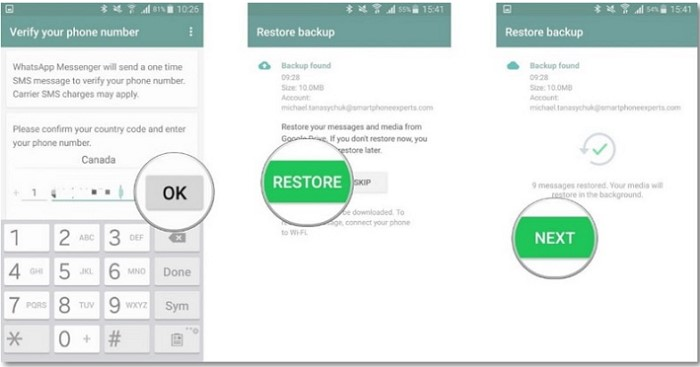 How To Transfer WhatsApp Chats From iPhone To Android - Restore Whatsapp Chat