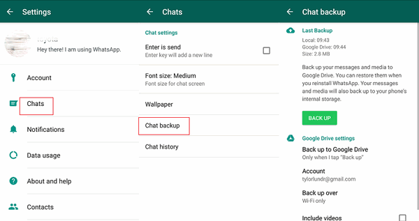 How To Transfer WhatsApp Chats From iPhone To Android - backup WhatsApp Chat