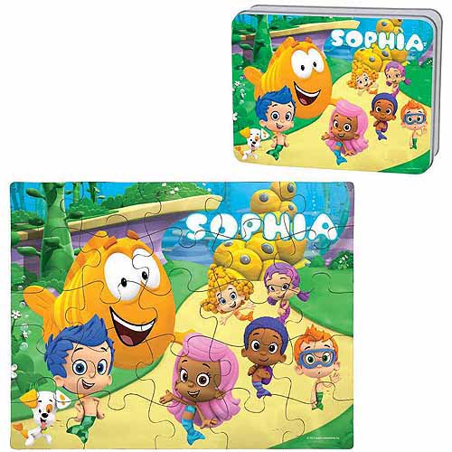 Bubble Guppies Toys; Personalized Bubble Guppies Puzzle and Gift Tin