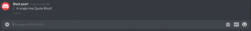 Single line quote Blocks On Discord - How To Quote On Discord