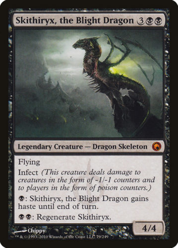 Infect Cards MTG; Skithiryx, the Blight Dragon
