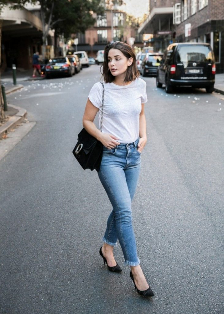 The Casual White and Black T-shirt